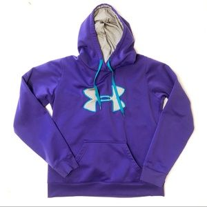 Under Armour Hoodie Purple Blue Size M